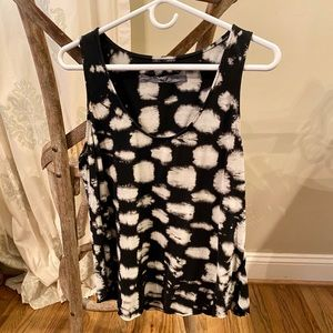 Raquel Allegra Black Patterned Tank